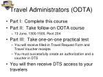 travel administrators odta