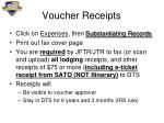 voucher receipts