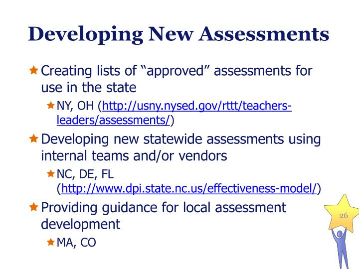 Developing New Assessments