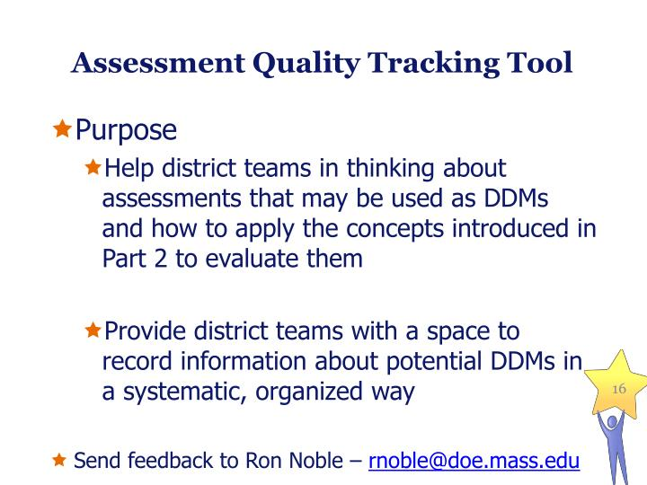 Assessment Quality Tracking Tool