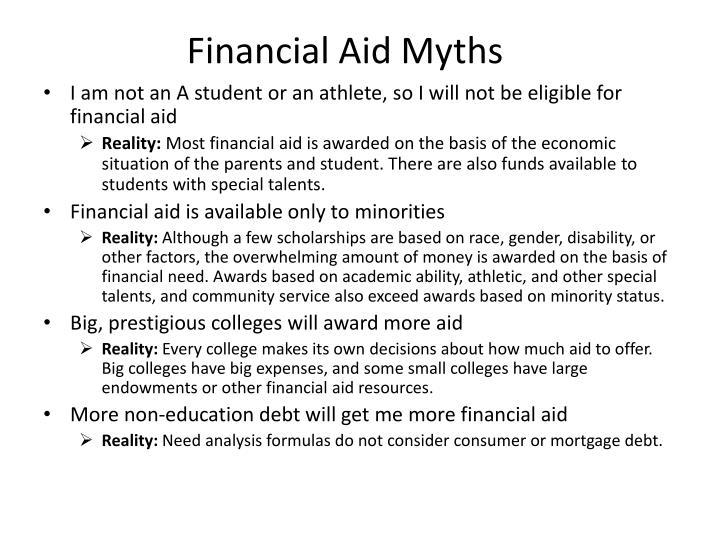 Financial Aid Myths