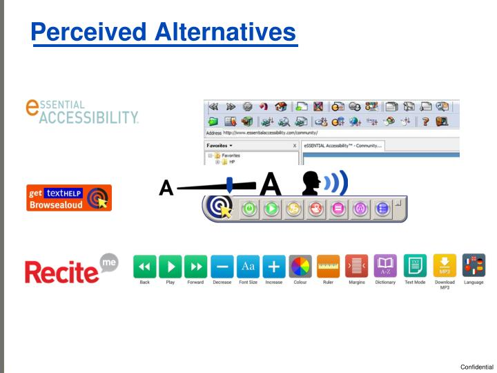 Perceived Alternatives