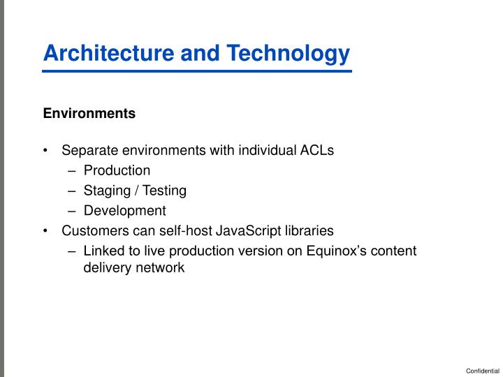 Architecture and Technology