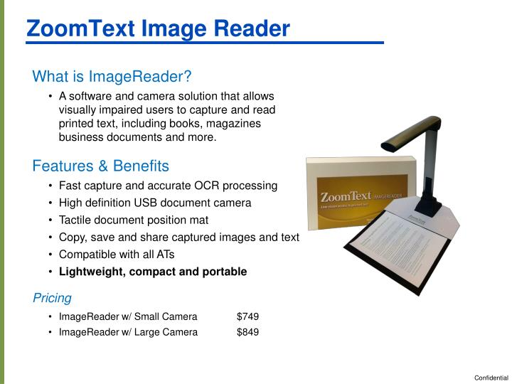 ZoomText Image Reader