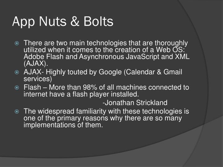 App Nuts & Bolts