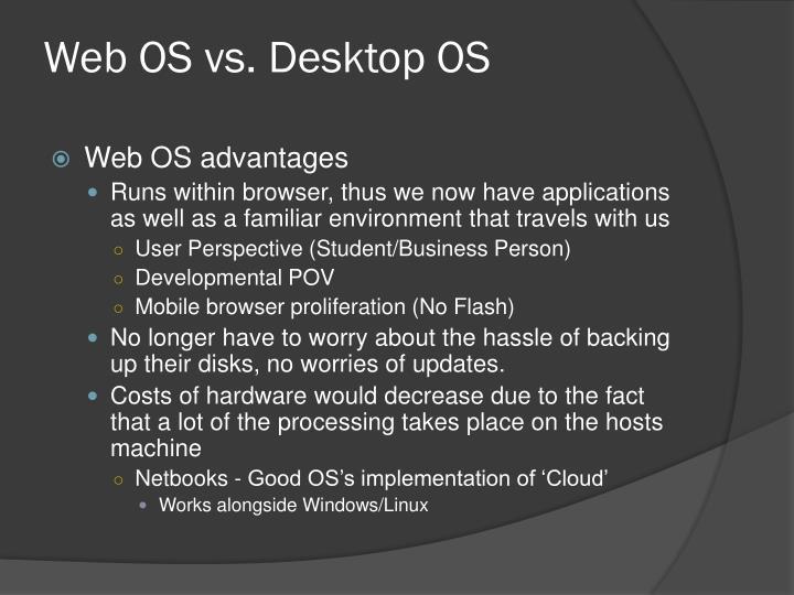 Web OS vs. Desktop OS