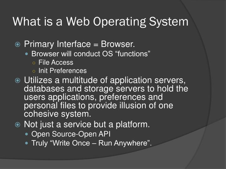 What is a Web Operating System