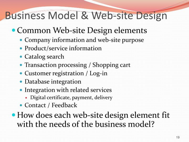 Business Model & Web-site Design