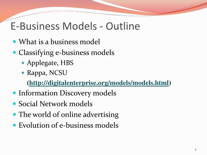 E business models outline