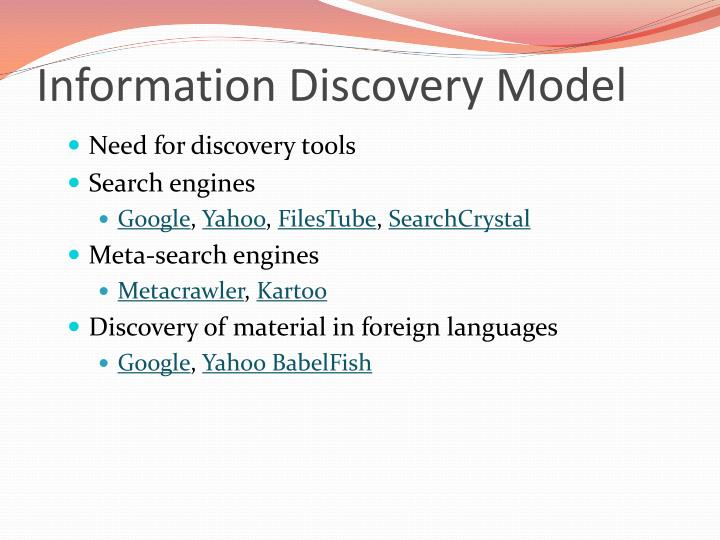 Information Discovery Model
