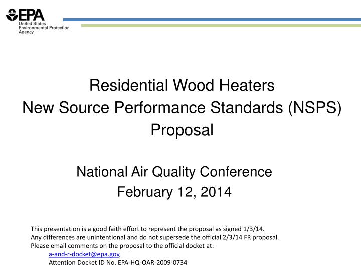 Residential Wood Heaters