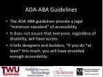 ada aba guidelines