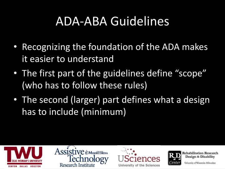 ADA-ABA Guidelines