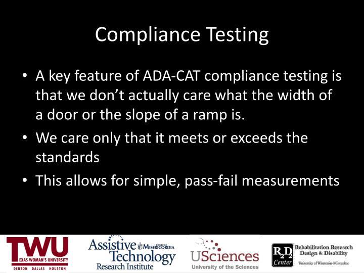 Compliance Testing