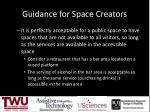 guidance for space creators1