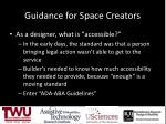guidance for space creators2