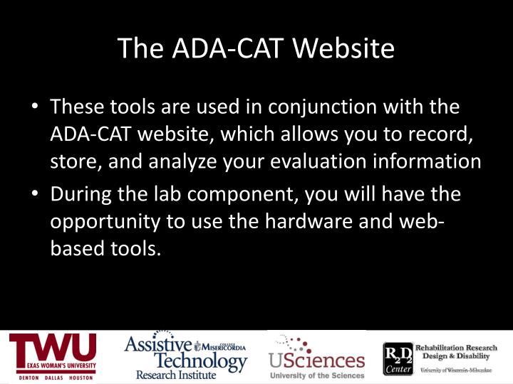 The ADA-CAT Website