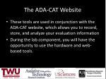 the ada cat website