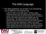 the ada language