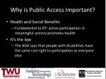 why is public access important