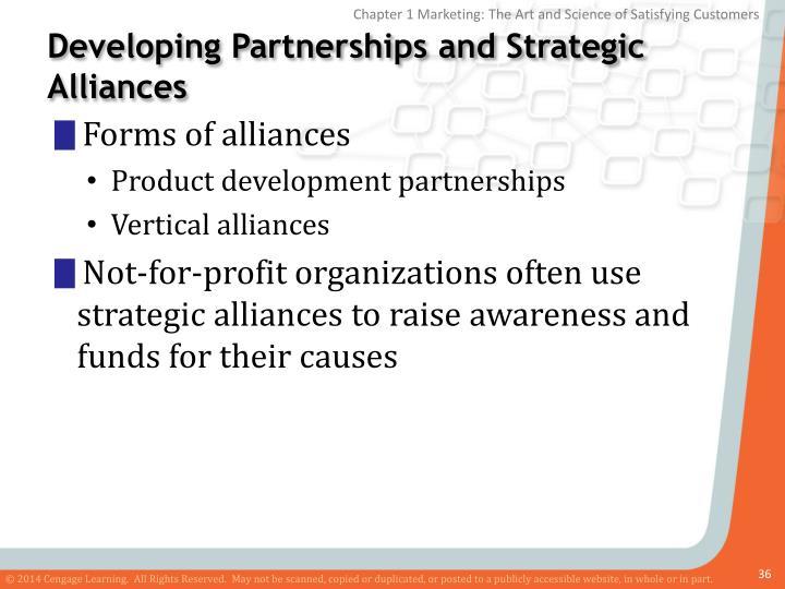 Developing Partnerships and Strategic Alliances