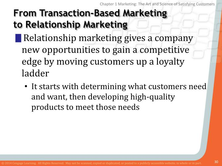From Transaction-Based Marketing