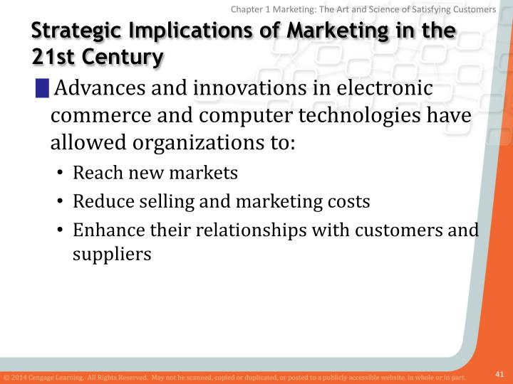 Strategic Implications of Marketing in the 21st Century