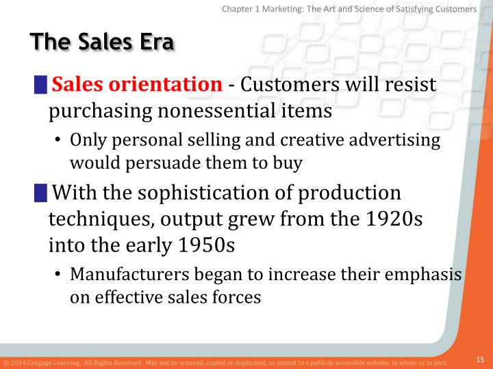 The Sales Era