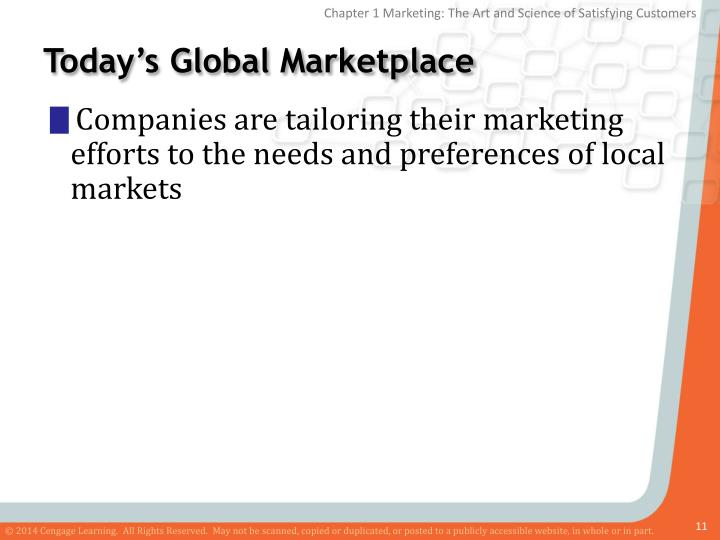 Today's Global Marketplace