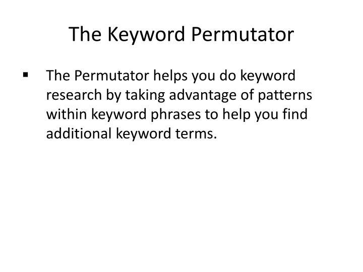 The Keyword Permutator