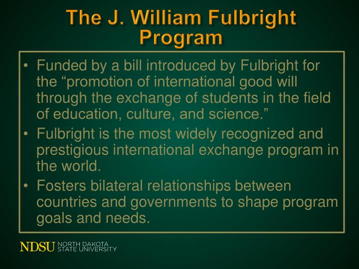 The J. William Fulbright