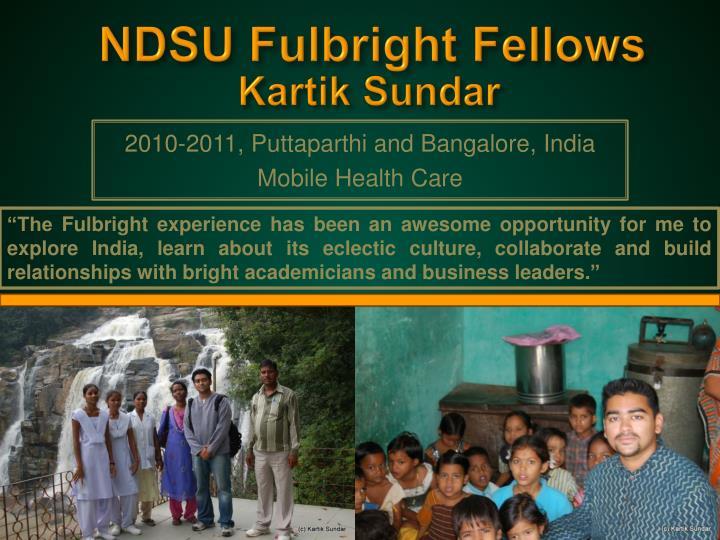 NDSU Fulbright Fellows