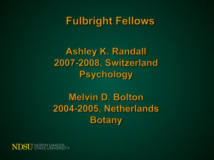 Fulbright Fellows