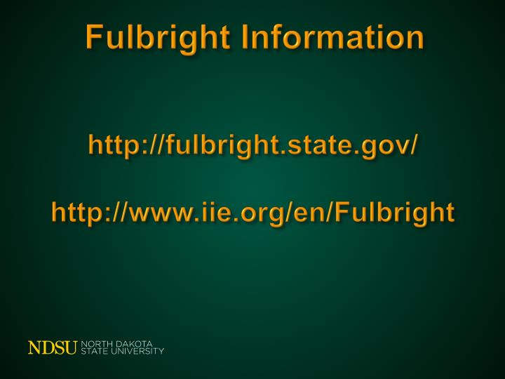 Fulbright Information