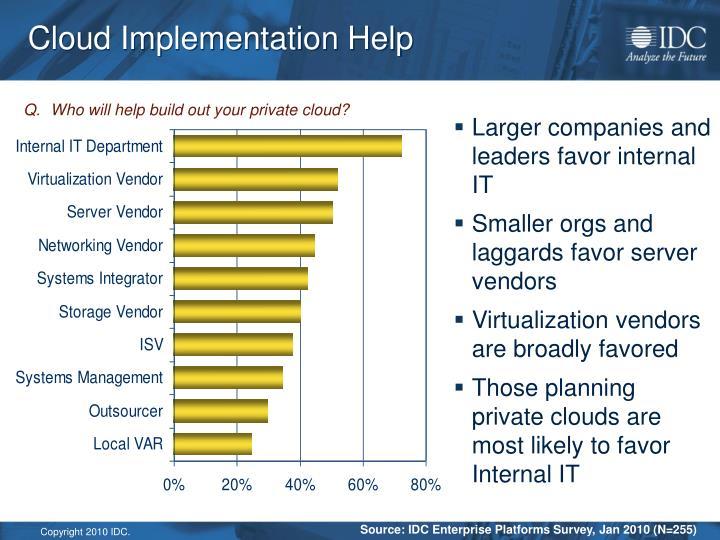 Cloud Implementation Help