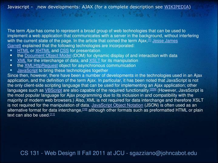 Javascript -