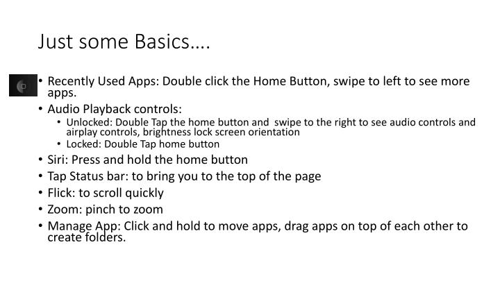 Just some Basics….