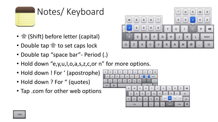 Notes/ Keyboard