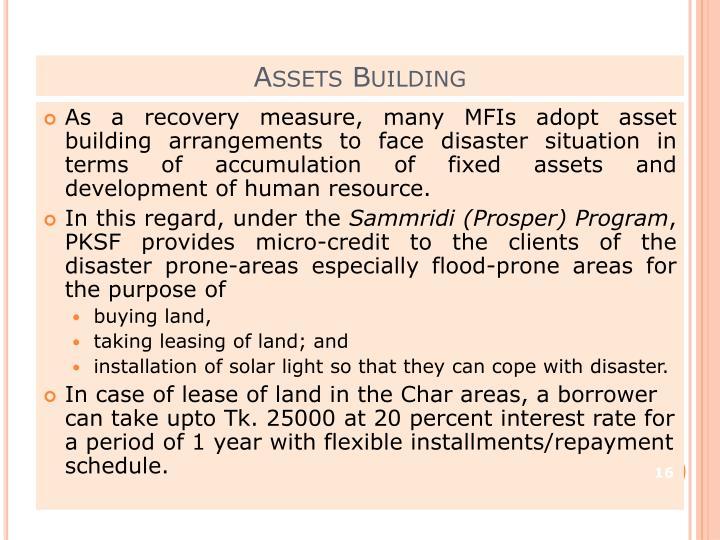 Assets Building
