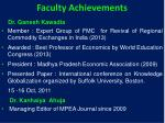 faculty achievements