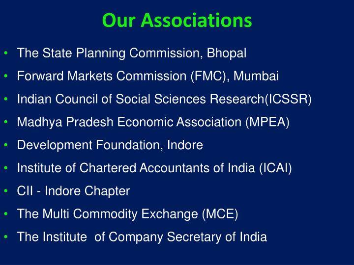 Our Associations