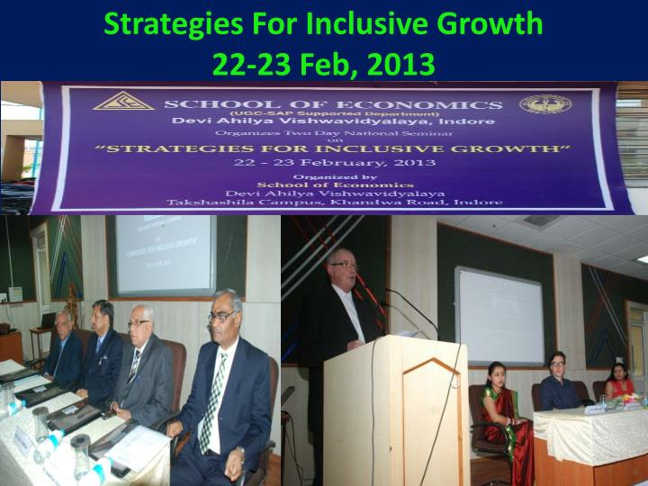Strategies For Inclusive Growth