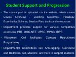 student support and progression