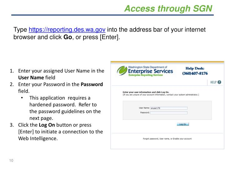 Access through SGN