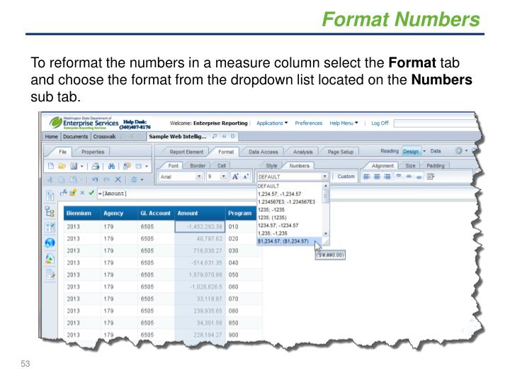 Format Numbers