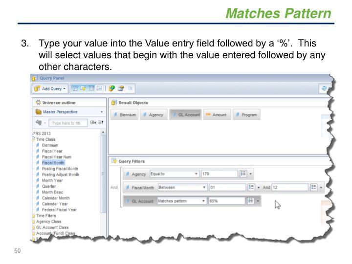 Matches Pattern
