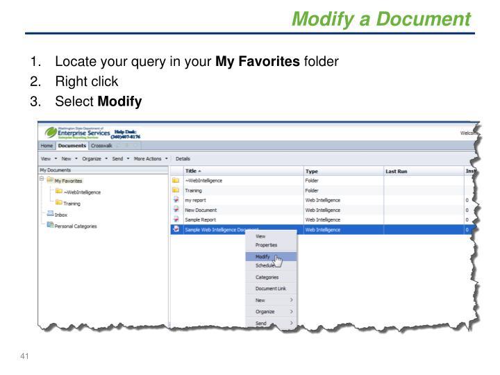 Modify a Document