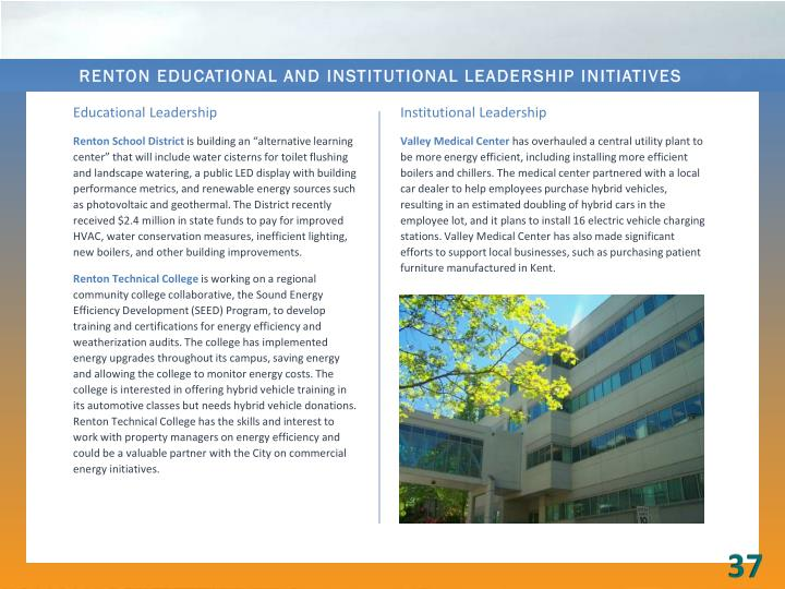 Renton Educational and Institutional Leadership Initiatives