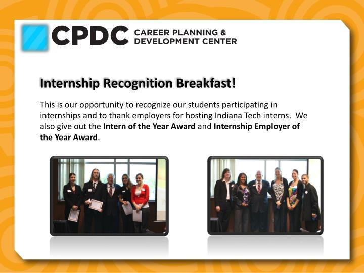 Internship Recognition Breakfast!