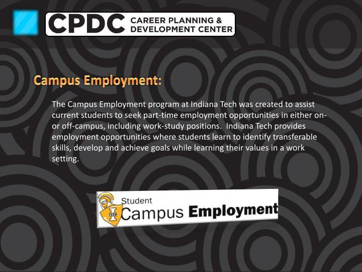 Campus Employment: